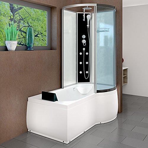 AcquaVapore DTP8050-A000L Wanne Duschtempel Badewanne Dusche Duschkabine 170x98, EasyClean Versiegelung der Scheiben:Nein! +0.-EUR