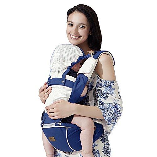 Baby Carrier Atmungsaktiv Multifunktionale Halten Baby Taille Hocker Baby Strap Sommer Stil Mutter Halten Baby Schultergurte Vorne Halten Baby Single Sitz Shade Windundurchlässige Kappe Multicolor Opt