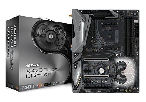 ASRock X470 Taichi Ultimate Mainboard, AMD AM4 Socket, RGB-LED Motherboard, ATX, mattschwarz