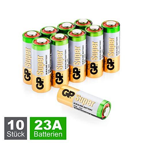 GP Batteries 23A / A23 / MN21 / V23GA Super Alkaline High-Voltage Batterien 12V (12 Volt) 10 Stück im Sparpack