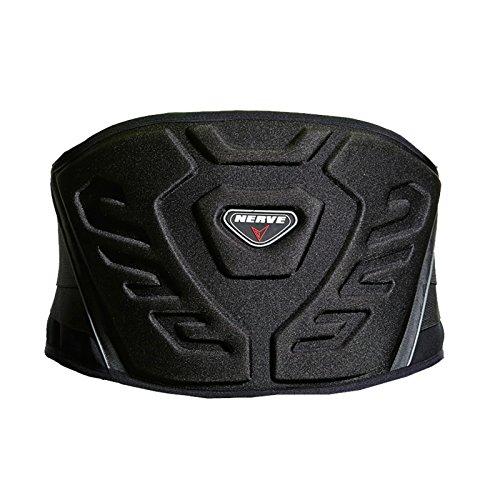 Nierengurt Motorrad Solid Verstärkt Gefüttert Fleece Flexibel Stretch Klettverschluss Sport Stütze Schutz - schwarz - XL-125cm