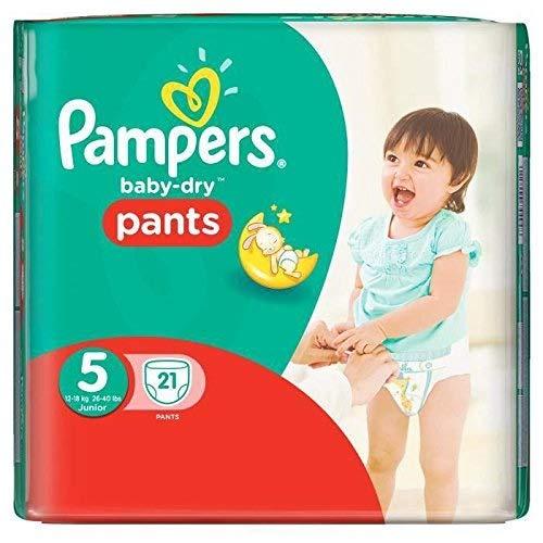 Pampers Baby-Dry Windeln, Größe 5 (Junior), 12-18kg, 21 Stück