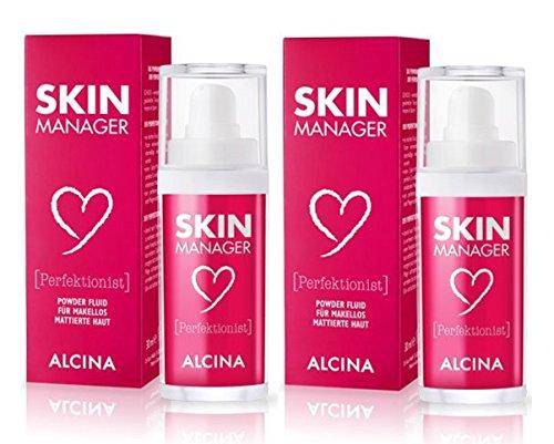 2er Perfektionist Powder Fluid für makellos mattierte Haut Skin Manager Alcina je 30 ml = 60 ml