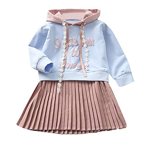 JERFER Brief Mit Kapuze Prinzessin Kleid Kinder Baby Mädchen Sweatshirt Outfits Kleidung