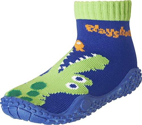 Playshoes Unisex-Kinder Aquasocke Krokodil Badeschuhe, Blau (Marine), 28/29 EU