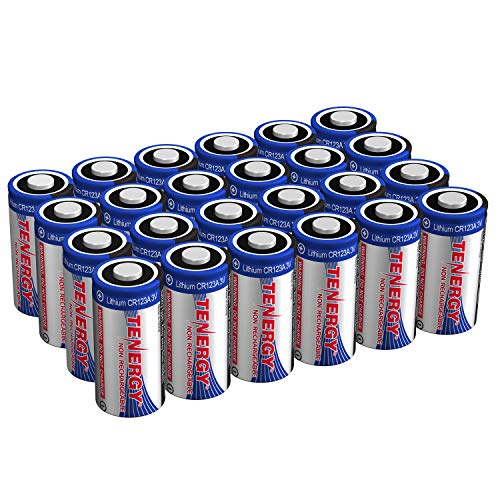 Tenergy Lithium CR123A Batterien 1500mAh 3V für Digitalkameras, Alarmanlagen, Rauchmelder, Camcorder, 24 Stück - Nicht wiederaufladbar