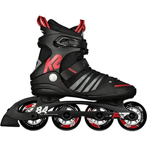 K2 Herren F.I.T. 84 Speed Alu Skateboardschuhe, Schwarz (Black/Red 001), 44 EU