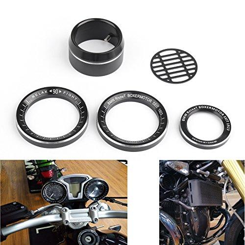 Areyourshop Techometer Tacho Ring Abdeckung Lufteinlass Blende für B-M-W R Nine T R1200R 14-16