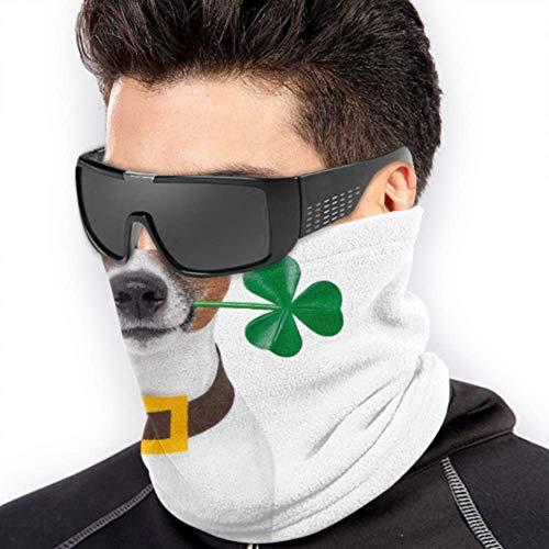 LONGYUU St. Patricks Day Hundesport Kopfbedeckung Sonnenschutz-Nackenschutz Gesichtsmasken Bandana Multifunktion Für den Winter Kaltes Wetter Warmhalten Für Herren Damen