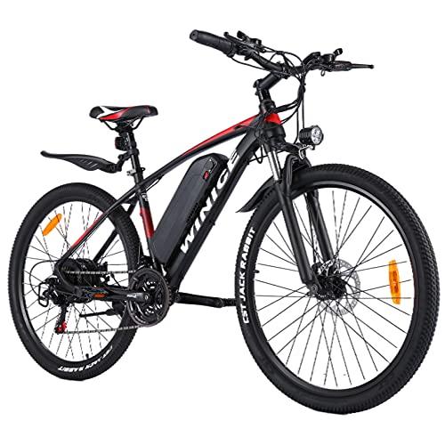 Winice Elektrofahrrad E-Bike Herren Damen,27.5 Zoll Ebike Mountainbike mit 350W/500W Motor,36V/48V 10.4AH Abnehmbarer Lithium Akku/Shimano 21-Gang Schalthebel,32 km/h Fullspeed,Reichweite 50km