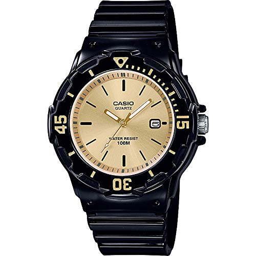 CASIO Damen Analog Quarz Uhr mit Harz Armband LRW-200H-9EVEF