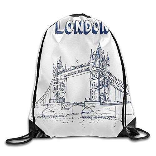 Etryrt Prämie Turnbeutel/Sportbeutel, London Tower Bridge In London British Architecture International Culture Icon Illustration Bags Mountain Backpack
