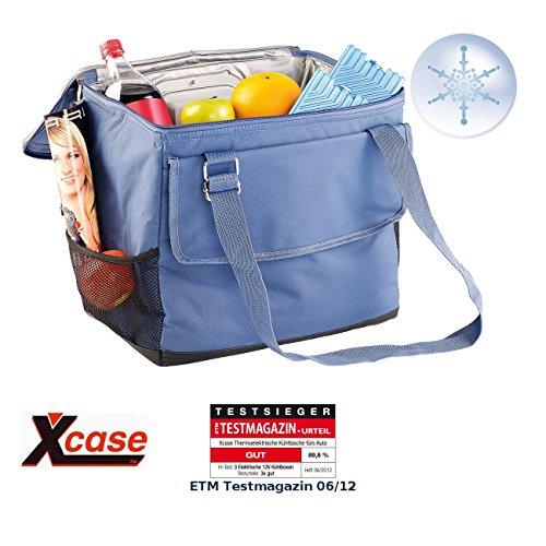 Xcase Kühltasche 12V: Elektrische 12-V-Thermo-Kühltasche fürs Auto, 35 l (Elektrische Kühltasche faltbar)