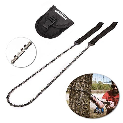 Overmont Handkettensäge Kettensäge AST-Säge Gartensäge mit 48 Zähnen aus Stahl Outdoor für Camping Garten Survival (130cm)