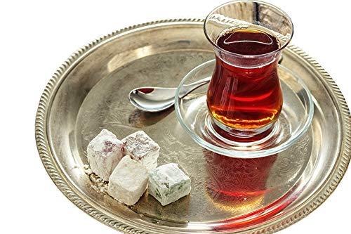 Topkapi - 18-tlg Türkisches Tee-Set Ajda-Sultan, 6 Teegläser, 6 Untersetzer, 6 Teelöffel, Komplett-Set