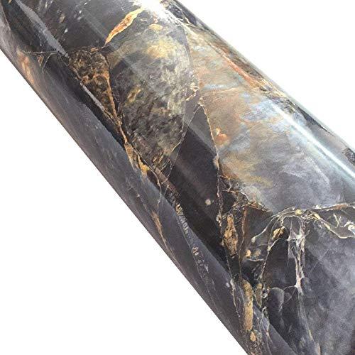 WDragon Klebefolie in Granit-Marmor-Optik, selbstklebend, glänzend, Vinyl, für die Küche, Arbeitsplatte, Wandaufkleber, Abziehfolie 61x 200,7cm