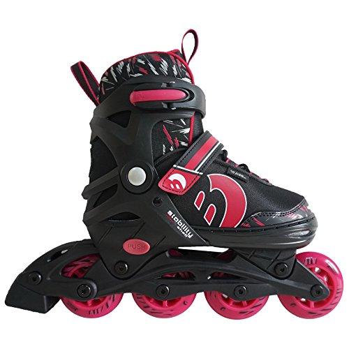 Best Sporting Inline Skates, Größe verstellbar, ABEC 7 Carbon, Inliner Kinder und Jugendliche, Farbe pink-schwarz, Größe 30-33