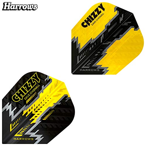 Harrows Dave Chisnall Chizzy Doppelpack Prime Dart Flight speziell laminiert
