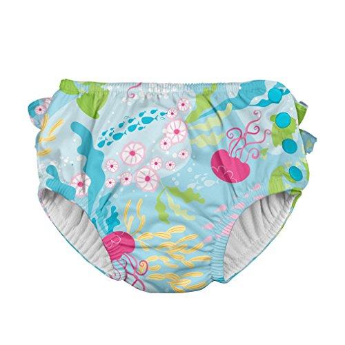 i play. 711150-660-45 Classics ultimative Schwimmwindel mit Rüschen und Druckknöpfen 18-24 Monate, Coral Reef, aqua