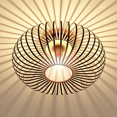 DREAMADE Deckenleuchte, Metall Deckenstrahler, E27&60W (ohne Leuchtmittel), Deckenlampe in Retro/Vintage Design für Schlafzimmer, Wohnzimmer, Flur, Gitterschirm, gold