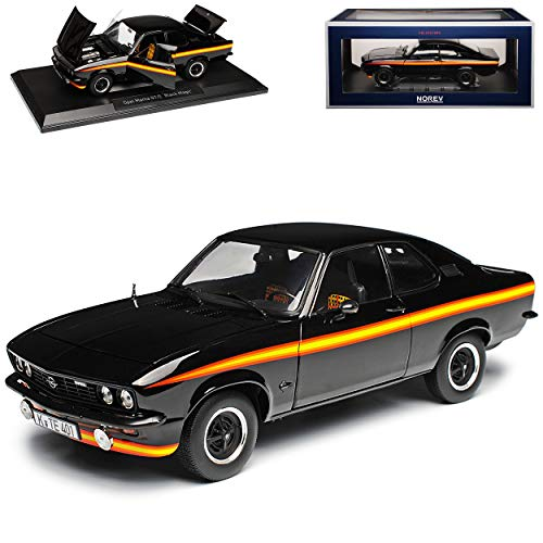 Opel Manta A GT/E Black Magic Schwarz 1970-1975 1/18 Norev Modell Auto
