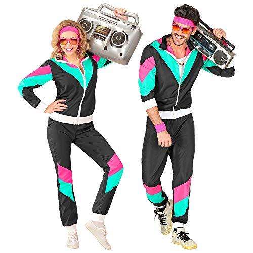 Widmann 10164 - Kostüm 80er Jahre Trainingsanzug, Jacke und Hose, angenehmer Tragekomfort, Assi Anzug, Proll Anzug, Retro Style, Bad Taste Party, 80ties, Karneval