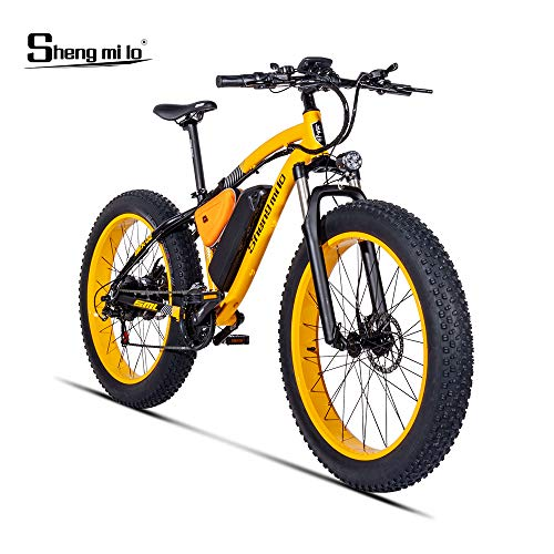XXCY MX02 eBike, Fat E-Bike, 1000 W, 48 V, 17 AH (Gelb)