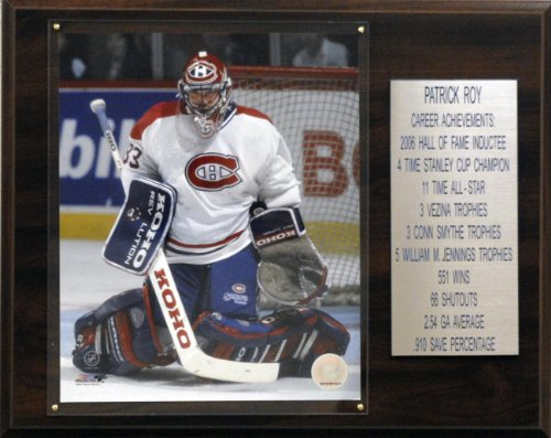 C & I Sammlerst-cke 1215PATROYST NHL Patrick Roy Montreal Canadiens Karriere Stat Plaque
