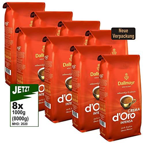 Dallmayr Crema d'Oro INTENSA Ganze Bohnen, 8x 1000g (8000g) - Kaffee von Dallmayr