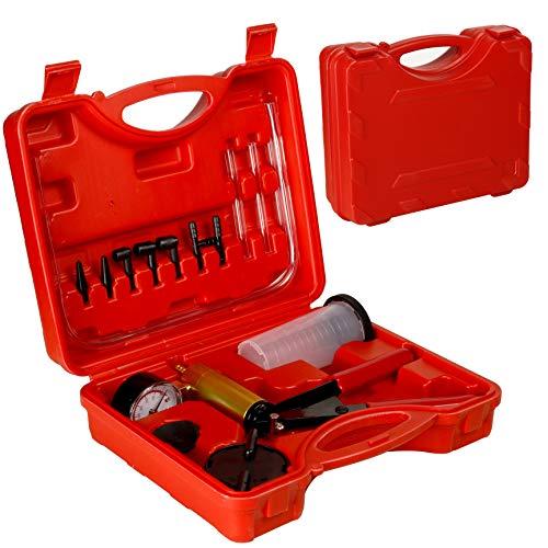 CCLIFE Bremsenentlüftungsgerät Vakuumpumpe Hand Bremsenentlüfter Vakuum Pumpe Vakuumtester Auto