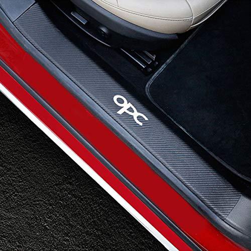 Dmwfaker Auto Einstiegsleisten Aufkleber, Kratzfeste Schutzfolie, Für Opel Mokka x Corsa Insignia Astra Adam Opc, Einstiegsleiste Stufenplatte Kohlefaser