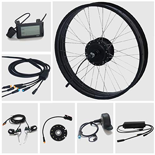 TZIPower Fat Bike Umbausatz E Bike 26 Zoll x4.0 Hinterrad Heck 48V 500Watt 500W E-Bike Kit Pedelec Elektrofahrrad Fat Kit