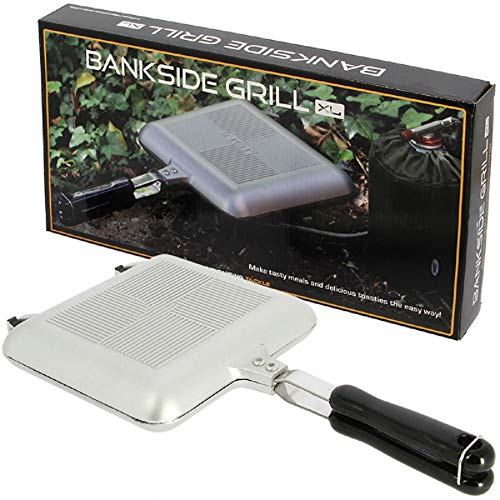G8DS XL Toastie Maker Outdoorpfanne Sandwichmaker in Chrome oder in schwarz Gaskocher