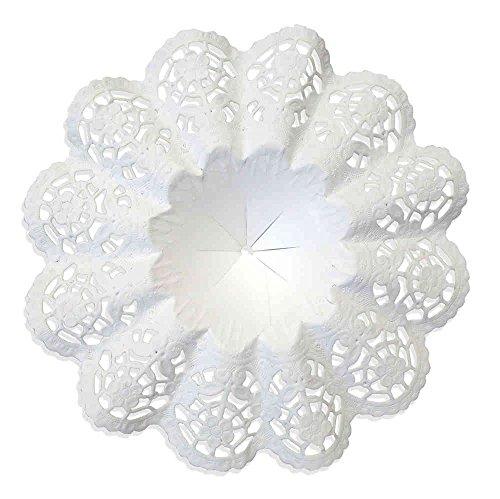 Biedermeiermanschetten weiß, 25 Stück, Gr. 4,5, Ø 10 cm