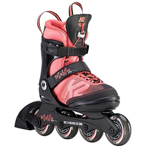 K2 Mädchen Inline Skates MARLEE PRO - Schwarz-Rosa - L (35-40 EU; 3-7 UK; 4-8 US) - 30D0222.1.1.L