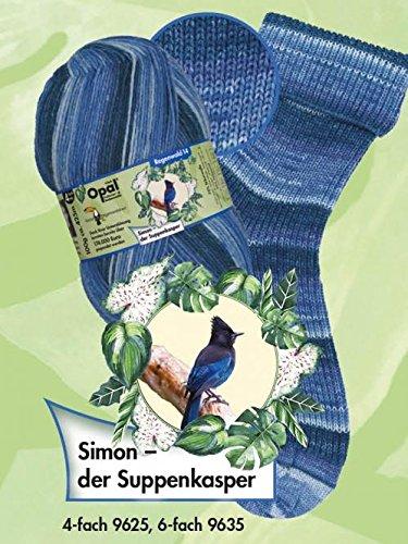 Opal Sockengarn - Regenwald XIV - 6fach 9635 Simon - der Suppenkasper