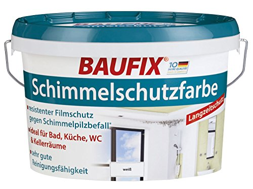 Baufix Schimmelschutzfarbe Weiß Seidenmatt 2,5 Liter