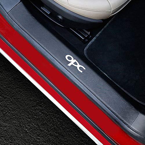 Gnnlor Auto Einstiegsleisten Aufkleber, Für Opel Mokka x Corsa Abzeichen Astra Adam Opc, Türschwellenschutz Aufkleber 4tlg