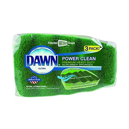 Dawn Power Clean Reinigungsschwamm, 3er-Pack, Grün