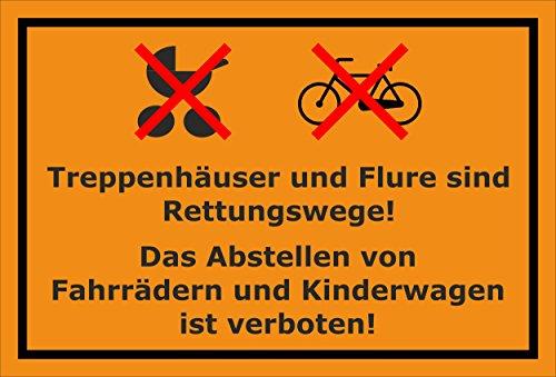 Melis Folienwerkstatt Schild - Fahrräder abstellen - 30x20cm | 3mm Hartschaum – S00050-036-E -20 Varianten