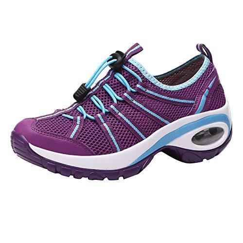 LUCKDE Sneaker Damen Laufschuhe Wanderschuhe Damen Wasserdicht Sportschuhe Running Fitness Fahrradschuh Rennrad Schuhe Frauen