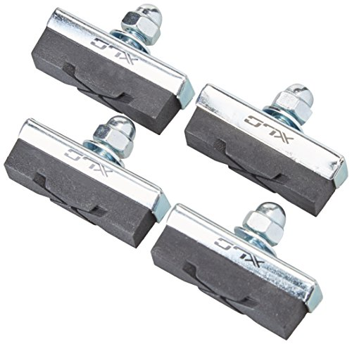 XLC Unisex– Erwachsene Bremsschuhe Universal BS-C04 4er Set 40 mm, Schwarz, One Size