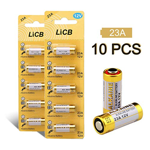 LiCB 10 Stück 23A 12V Alkaline Batterie, A23S MN21/23 L1028 A23 12V Batterie 3 Jahre Lagerfähigkeit 100% Voll Garantie