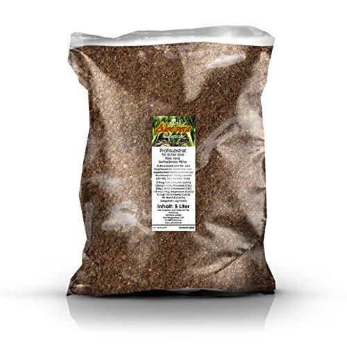 GREEN24 Aloe Vera Erde 5 Liter Substrat für für Echte Aloe - Profi Linie Substrate & Erden