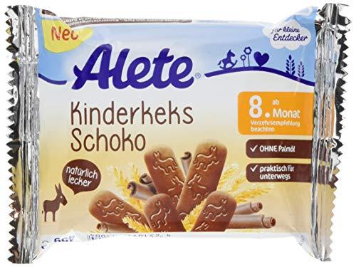 Alete Kinderkeks Schoko, zum Knabbern oder als Brei, praktisch für unterwegs, ohne Palmöl, ab dem 8. Monat, 1er Pack (1 x 45g)