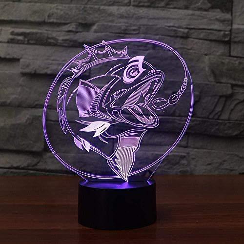 3D Illusion Nachtlicht Bluetooth Smart Control 7 & 16M Farbe Mobile App Led Vision Angeln Fisch Tisch Angeln Enthusiast Home Decor bunte kreative Geschenk