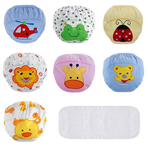 Lictin Trainerhosen Baby Lernwindel Windelhose Wasserdicht Trainer Windelhosen für Baby 1,5 bis 2 Jahre Größe 90 7 Stücke