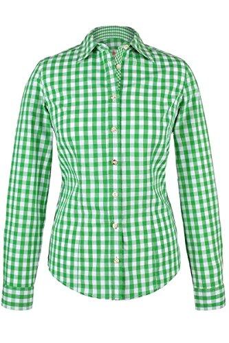 Almsach Damen Trachten-Bluse grün-weiß kariert 'Maria', hellgrün, 46