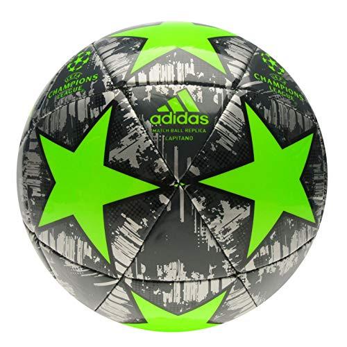 adidas Größe 4 Champions League Fußball Europa-Turnierball Silber/Grün Alter 8-12 Jahre
