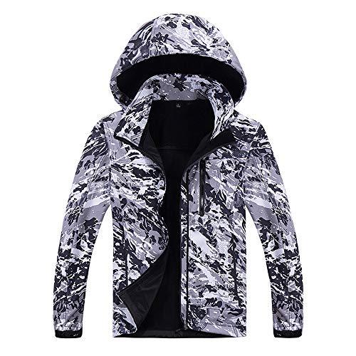 FRAUIT Softshell Camouflage Kapuzenjacke Herren Herren Herbst Männer Hoodie Outdoor Outfit Assault Coat Wintermantel Kapuzenpullover Fleece Zipper Sweater Jacke Outdoorjacke L-5XL